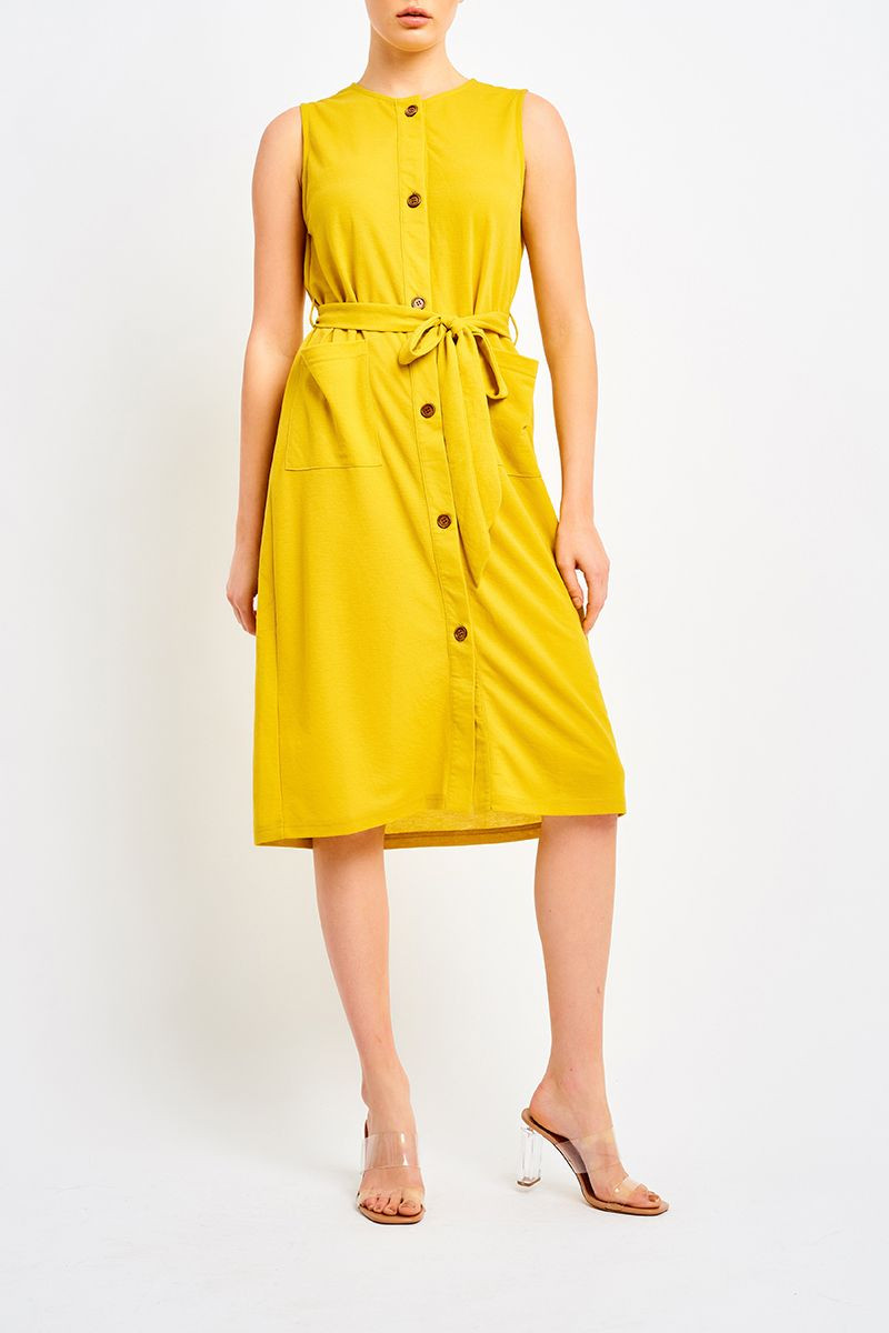 OLINDA BUTTON UP DRESS Now Only $12.99 (Was $24.99)