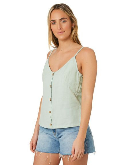SWELL Logan Button Through Hemp Cami Details $59.99