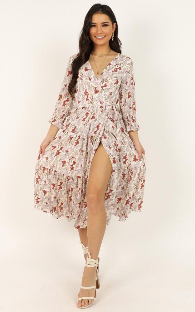 A Million Suns Dress In Cream Floral Price: AU$79.95 AU$40.00