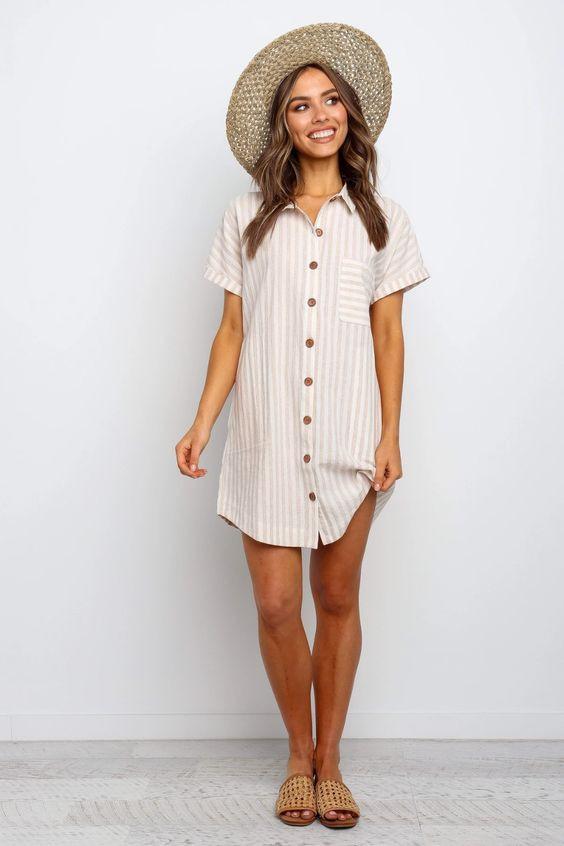 Fierra Dress - Beige $59.95