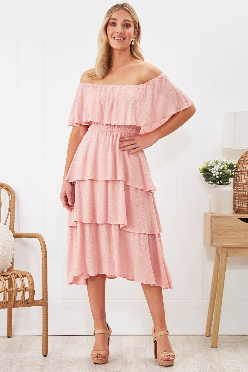 Scarlet Dress In Pink Special Price $34.00  $69.90
