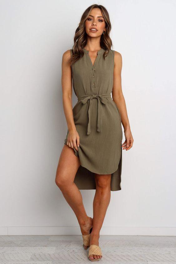 Florentine Dress - Olive $69.95