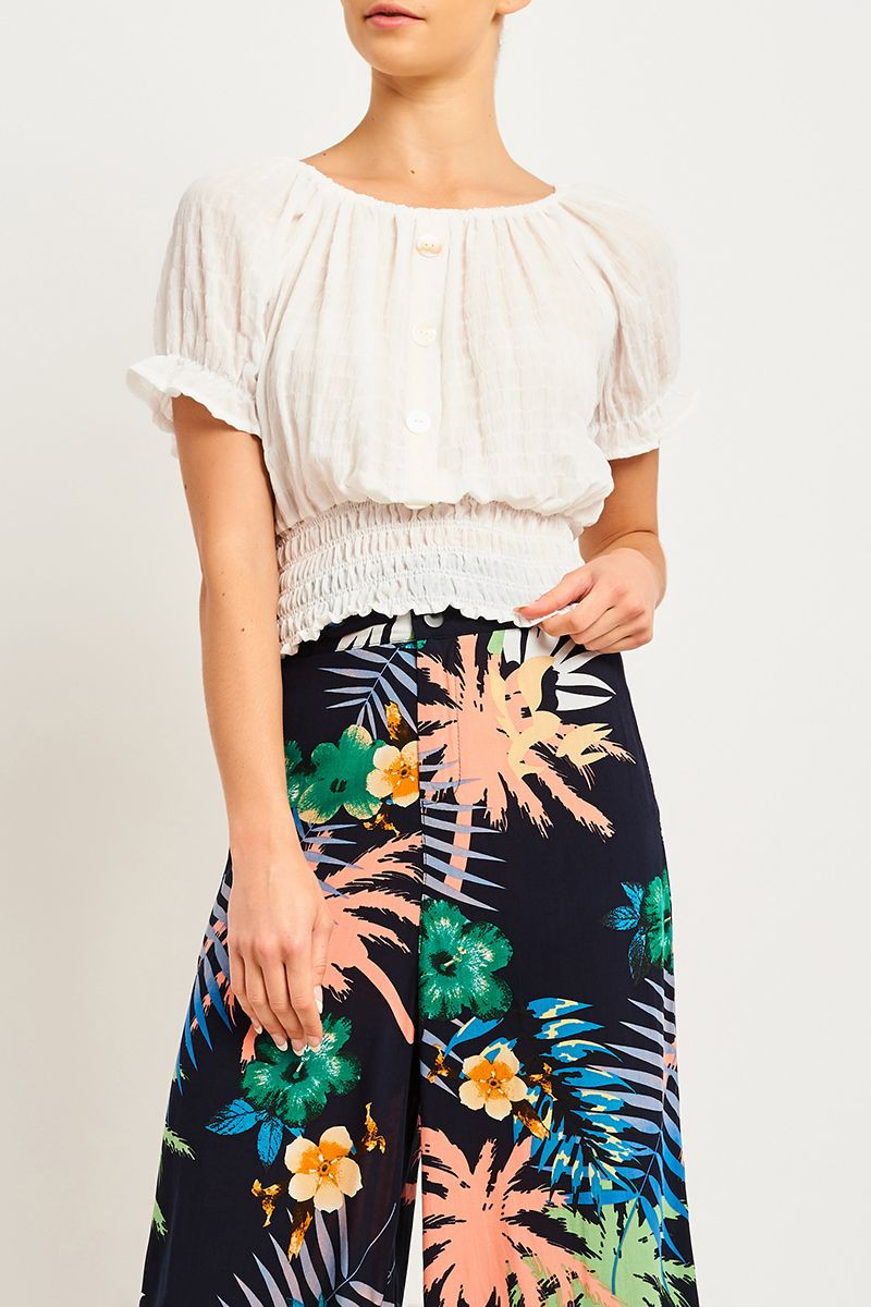ALYSSA PEASANT TOP SKU 320772_A521_WHT Now Only$7.99 $12.99