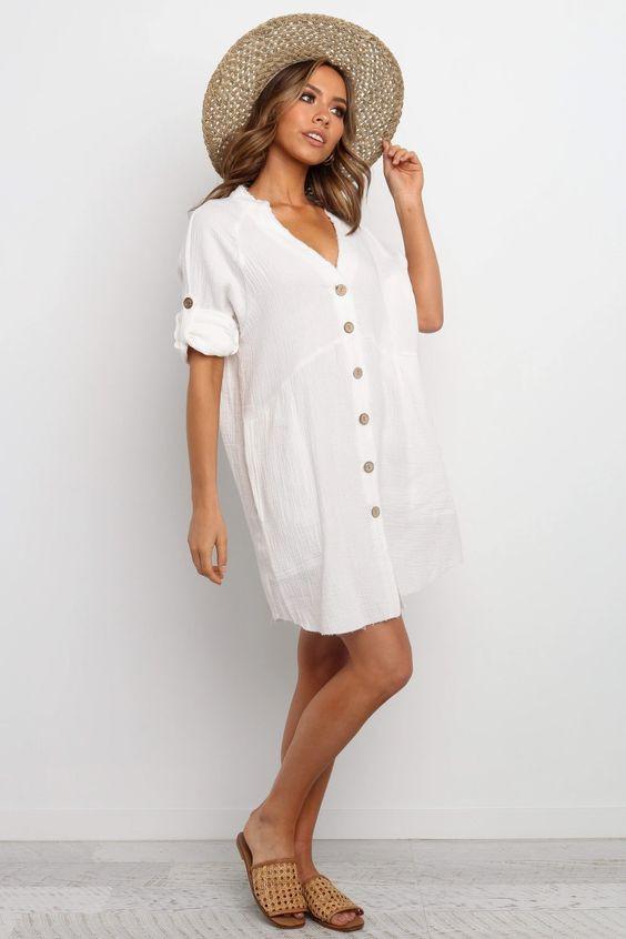 Mykonos Dress - White $69.95