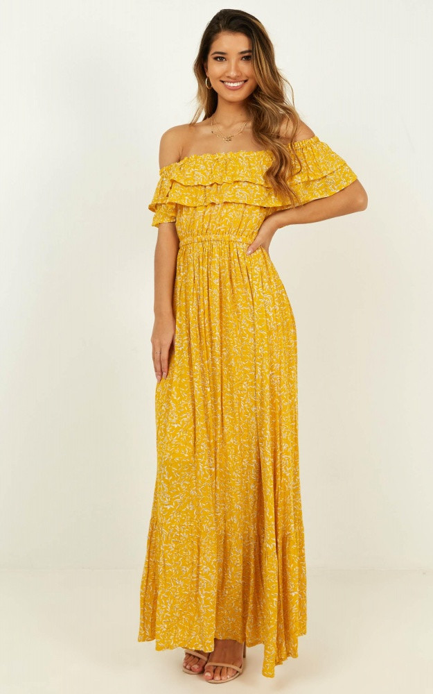 Notre Dame Maxi Dress In Yellow Floral $64.95