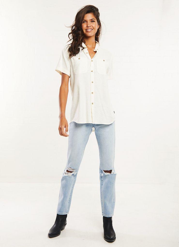 Men At Work Linen Shirt - Natural A$59.97 A$99.95