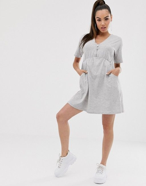 ASOS DESIGN zip front smock dress with pockets $19.50$36.00