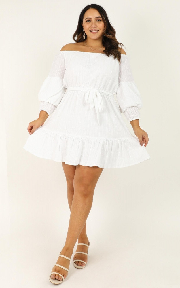 Getting It Right The First Time Dress In White $69.95
