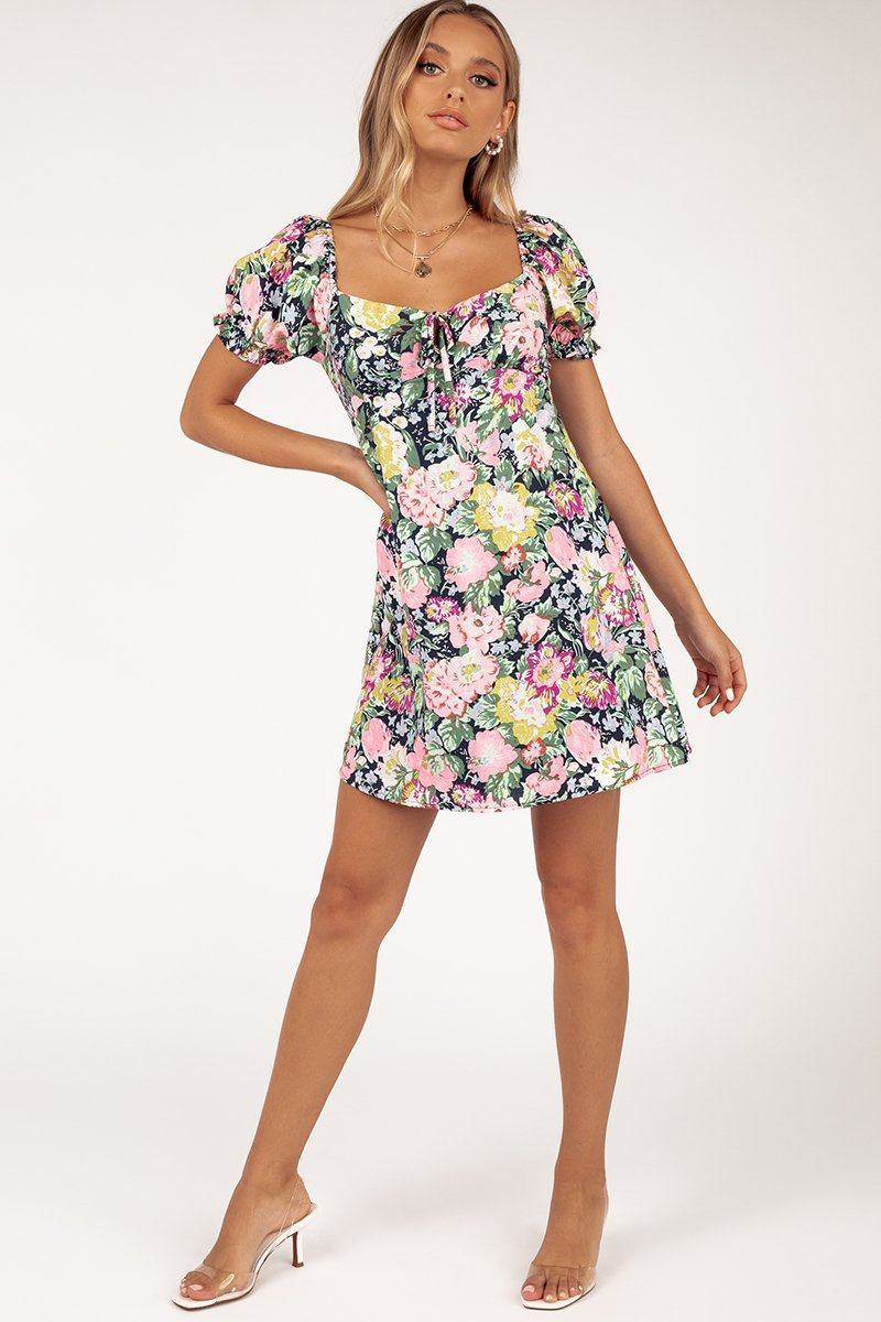 ADELAIDE NAVY FLORAL MINI DRESS DISSH EXCLUSIVE  $79.99