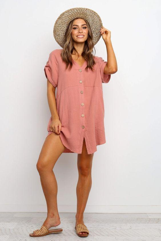 Sariah Dress - Rose $69.95
