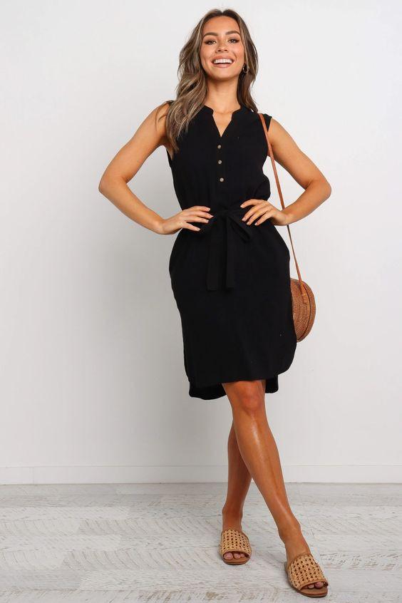 Florentine Dress - Black $69.95