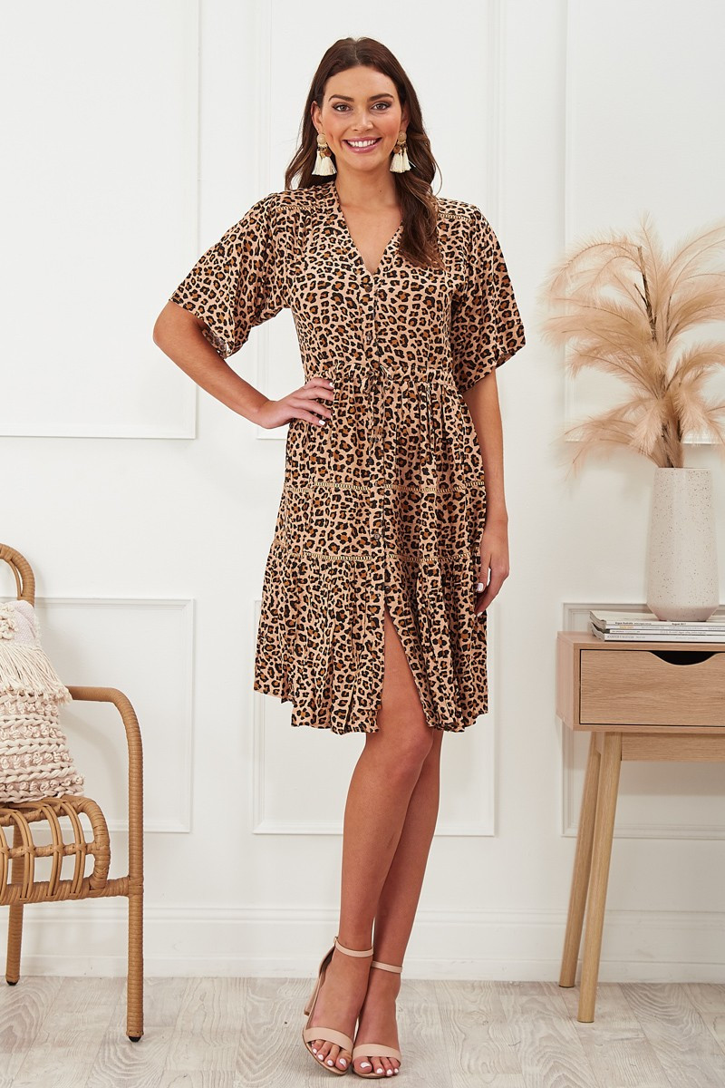 Never Forget You Dress In Leopard $69.90