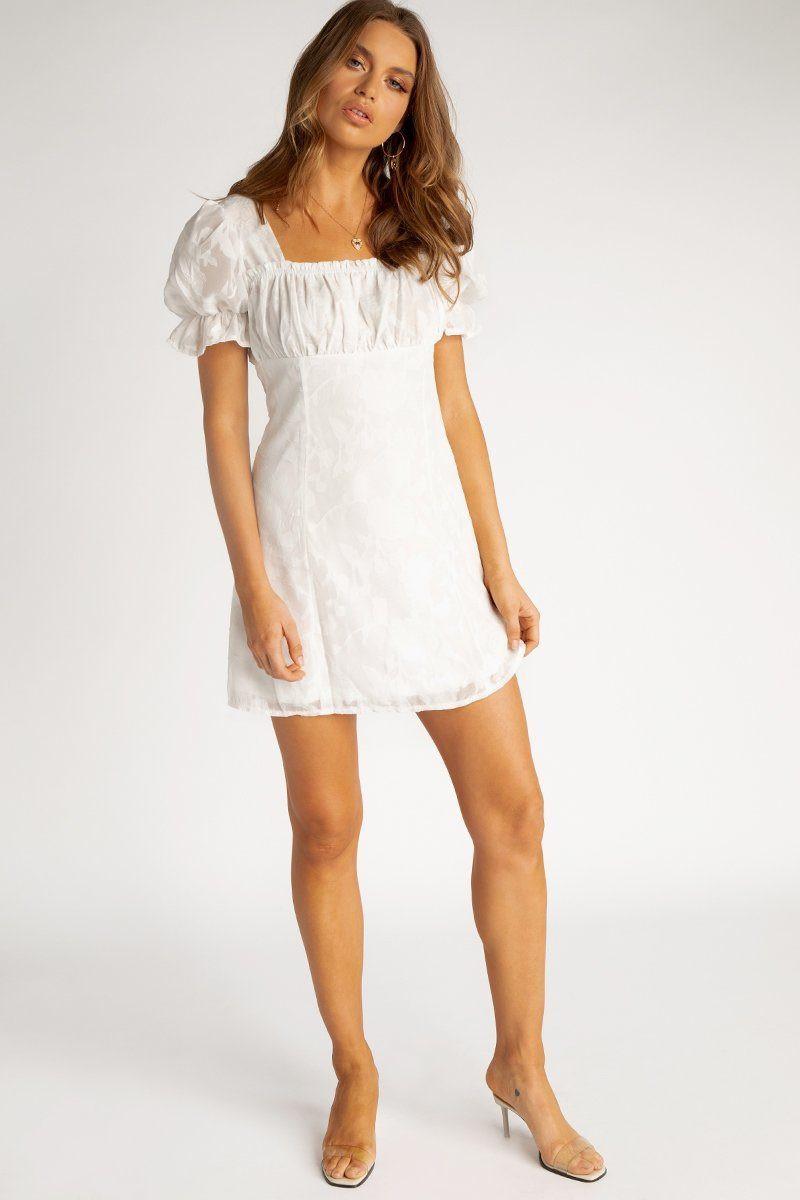 ROSIE WHITE MINI DRESS DISSH EXCLUSIVE  ONLINE ONLY Regular price $89.99 $49.00