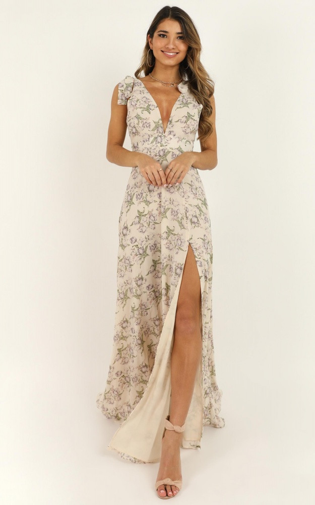 Hard To Keep Up Dress In Cream Floral Price: AU$79.95 AU$48.00