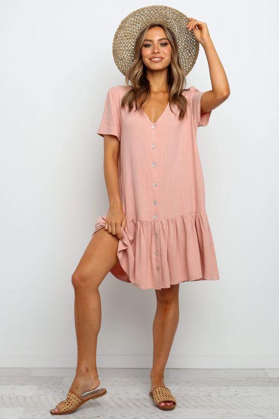 Lynette Dress - Blush $69.95