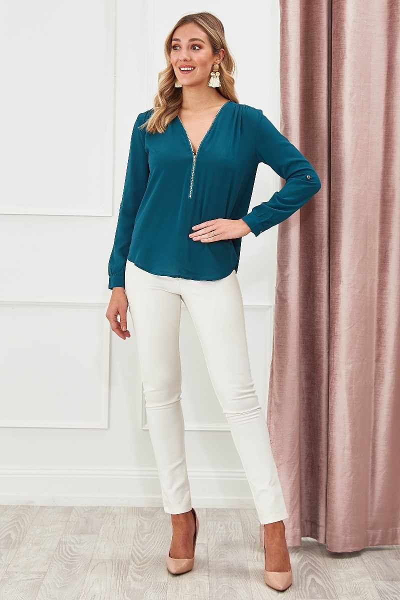 Emerson Top In Teal $49.90