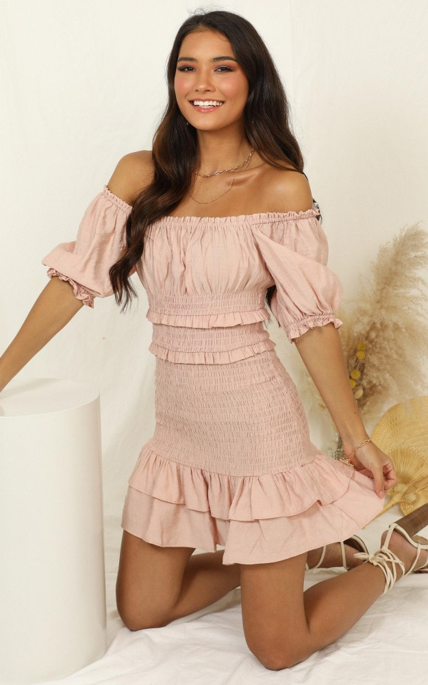 Daytime Dream Dress In Blush $69.95