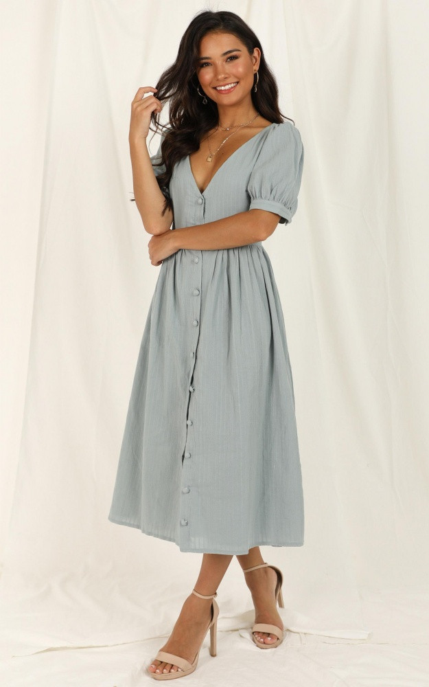 Free Therapy Dress In Sage $79.95