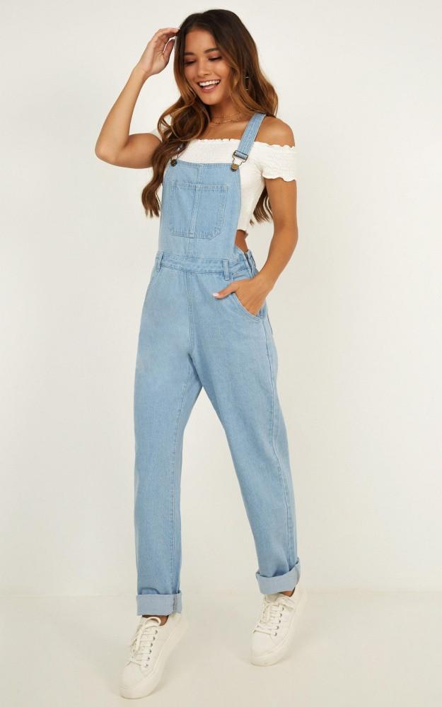 Kiera Denim Overalls In Blue Wash Price: AU$79.95