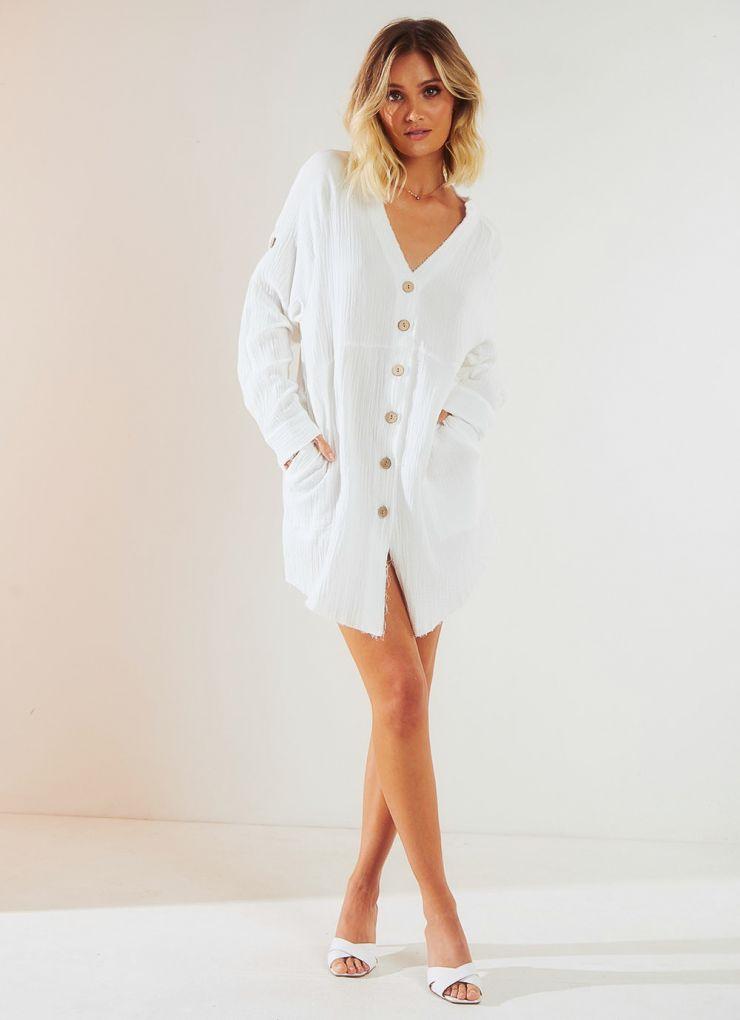 Clear Skies Dress - White A$64.95