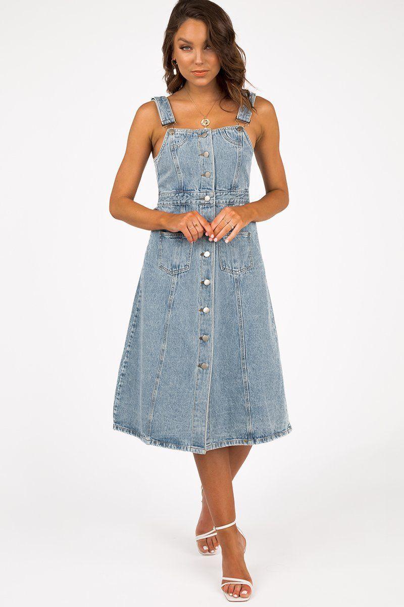 FRONT ROW BUTTON FRONT DENIM DRESS DISSH EXCLUSIVE  Regular price $119.99 $59.00