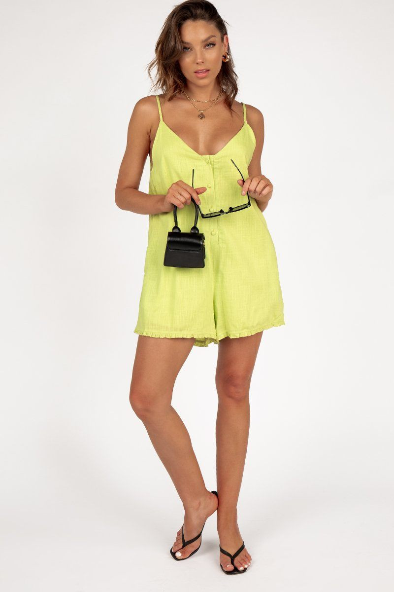 FAR AWAY LIME PLAYSUIT DISSH EXCLUSIVE  ONLINE ONLY $59.99