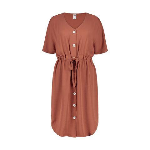 Short Sleeve Tie Waist Dress $28.00
