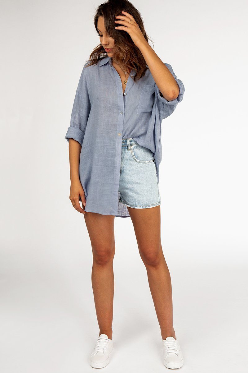 PLAYING BY THE RULES BLUE SHIRT DISSH EXCLUSIVE  Regular price $59.99 $39.00