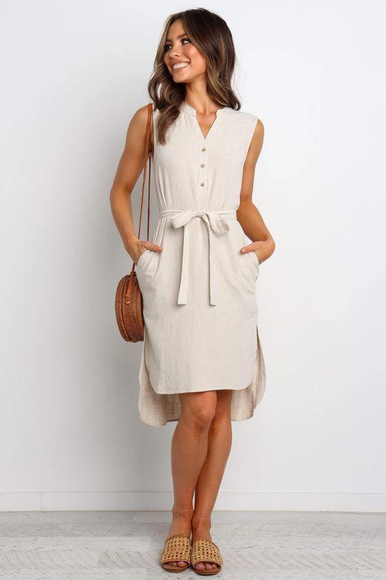 Florentine Dress - Natural $69.95