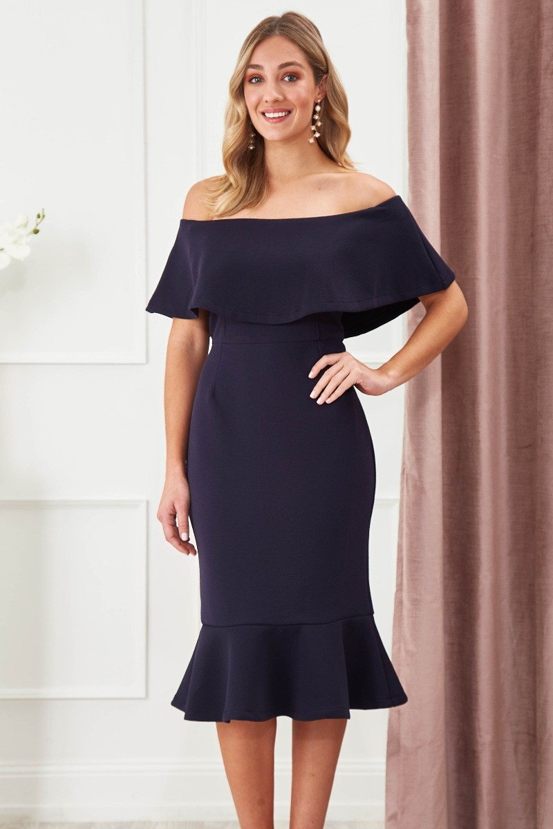 Chasing Kate Hepburn Dress In Navy Special Price $29.00  $99.90