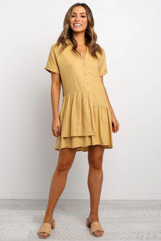 Sully Dress - Mustard $99.95