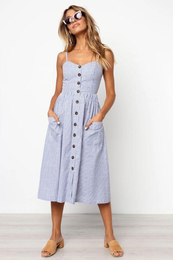 Back to Home Romono Dress - Blue $59.95