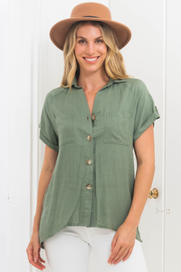 Brontide Top - Green Save $39.00 AUD
