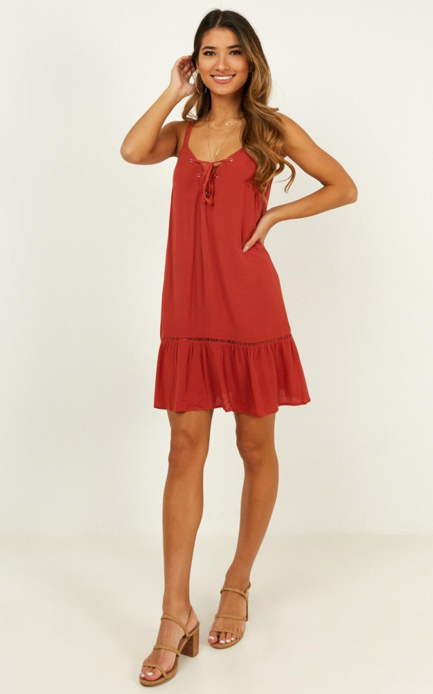 Never Looked Better Dress In Rust Price: AU$59.95 AU$42.00