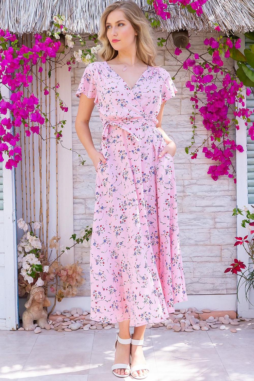 Phinda Pink Floralie Maxi Dress $89.99