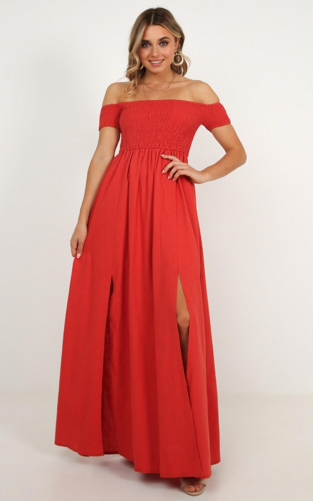 Game Changing Maxi Dress In Rust Linen Look Price: AU$69.95 AU$35.00