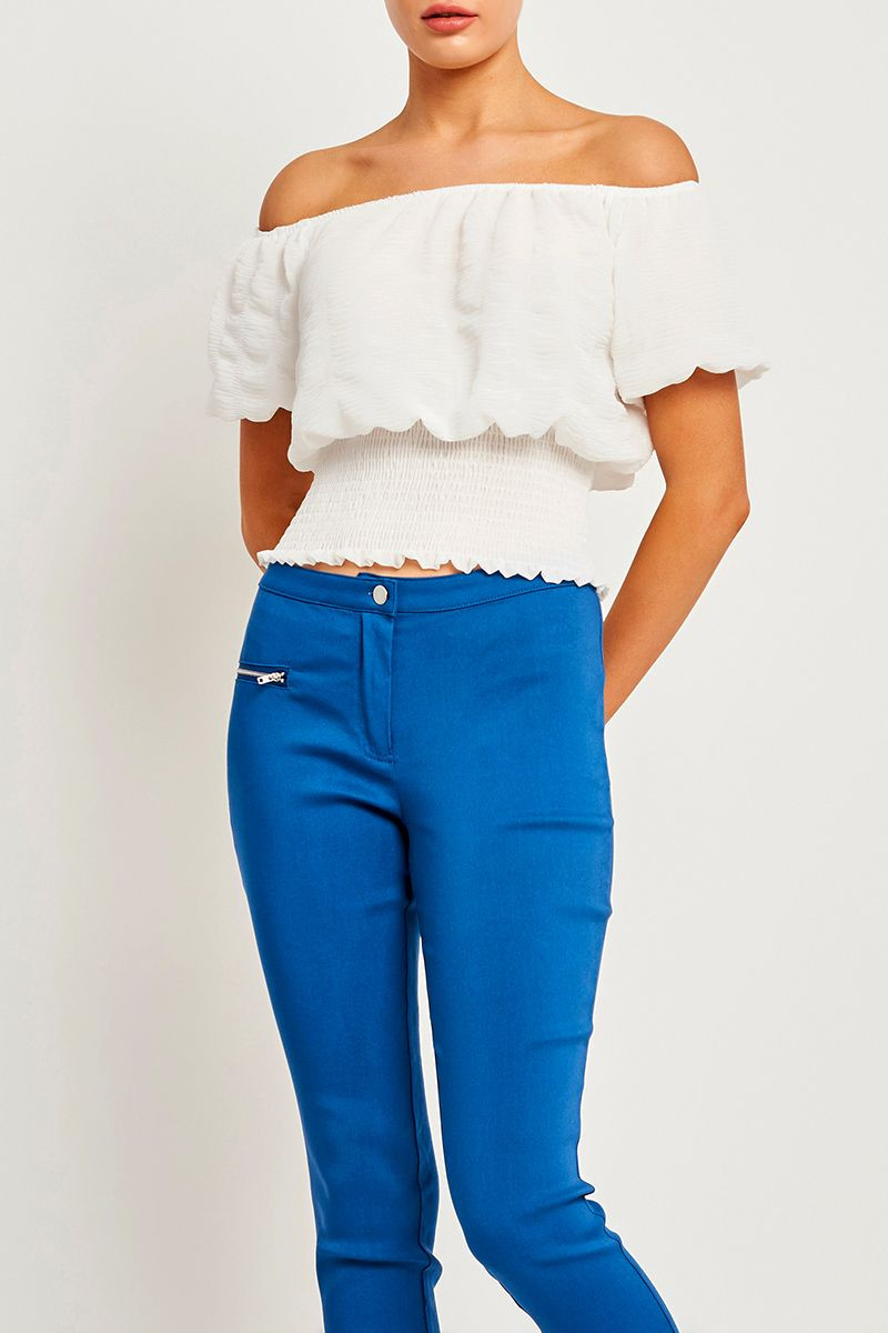 STACEY PUFF SLEEVE TOP $25.99