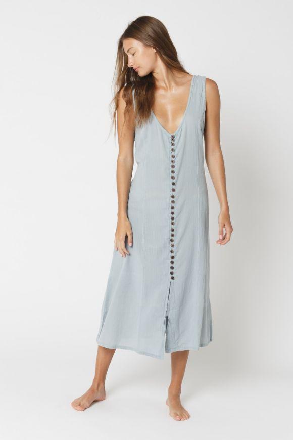 Khaddar Button Long Dress Special Price $47.96 $59.95