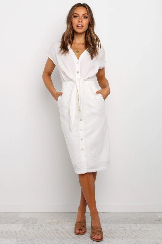 Kimmy Dress - White $79.95