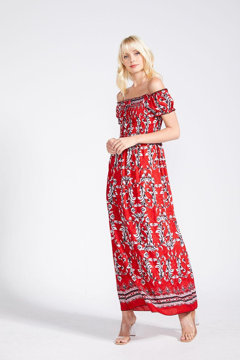 BIANCA OFF SHOULDER MAXI DRESS $19.99