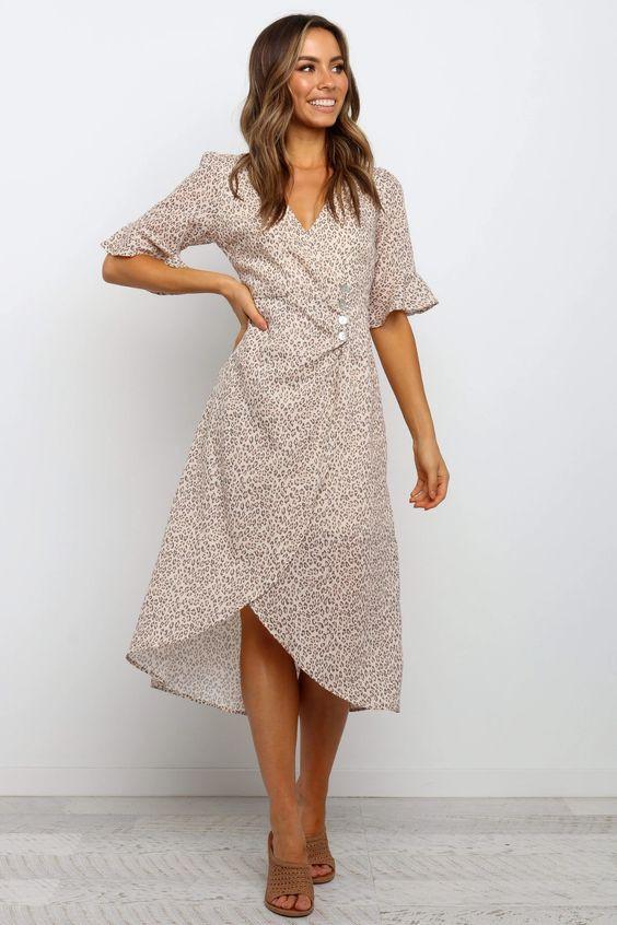 Tabarri Dress - Beige $69.95