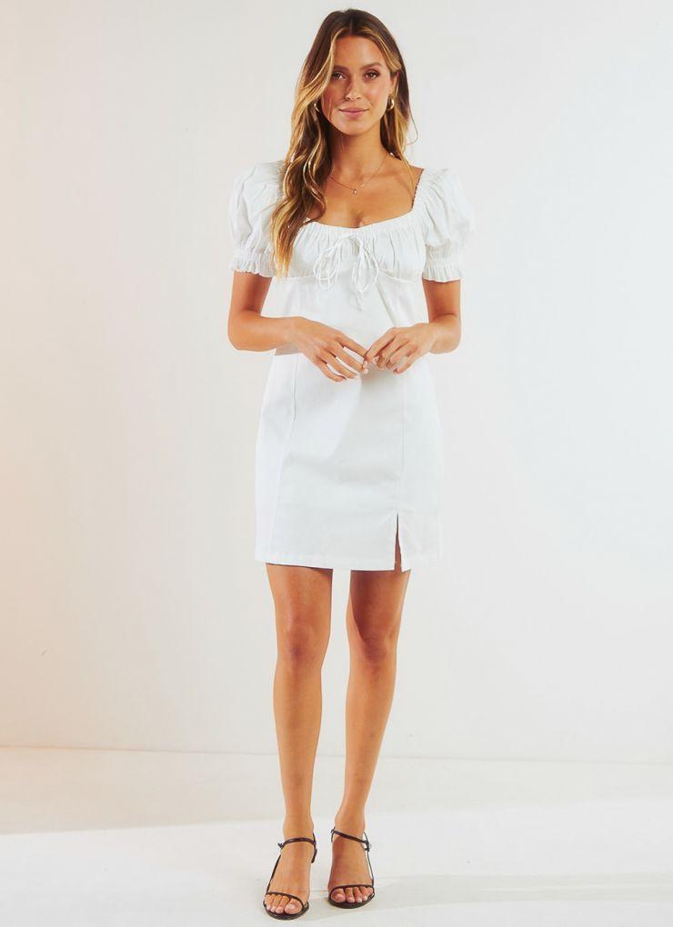 Eastside Dress - White A$69.95