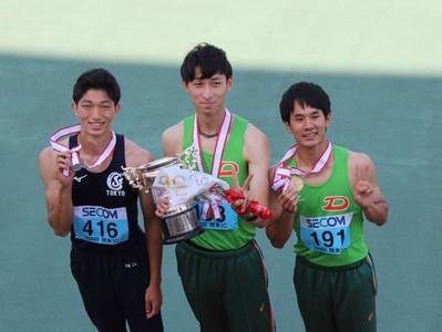 健康科学科 中井脩太君が関東インカレで1位に入賞しました。