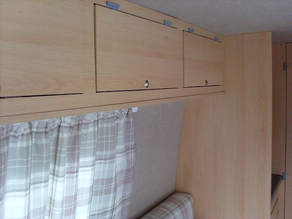 Campervan overhead storage lockers