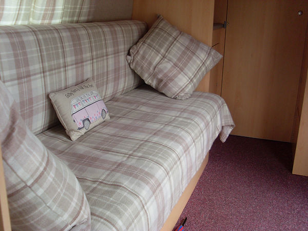Campervan interior upholstery