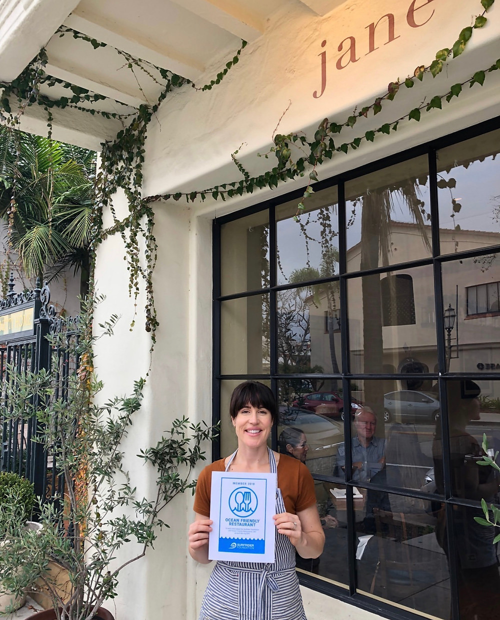 Jane from Jane Restaurant - Ocean Friendly Certified
