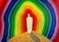 Make Me a Rainbow, 2017, acrylic on canvas, 15x24___#letinthelight #keepyourheadup #keepsmiling #own