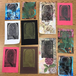 Printed a few small editions and mono-prints of my Sanctuary Series today. More to come...