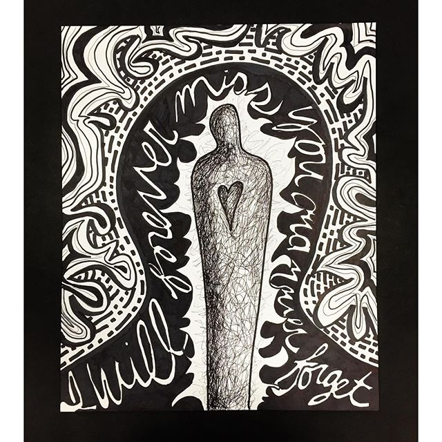 Memory, 2016_17x14_ ink on Bristol board_A demo piece for my Design 1 class