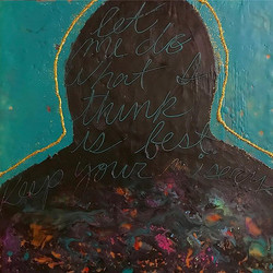 _Unfriend Threat Disorder_, 2016, 12x12_, mixed media on panel__#art #mixedmedia #brettdyerart #poli